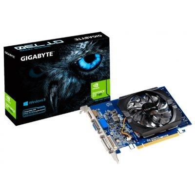 Видеокарта ПК Gigabyte GeForce GT 730 902Mhz PCI-E 2.0 2048Mb 1800Mhz 64 bit DVI HDMI HDCP rev. 2.0 (GV-N730D3-2GIV2.0)Видеокарты ПК Gigabyte<br>видеокарта NVIDIA GeForce GT 730 2048 Мб видеопамяти GDDR3 частота ядра/памяти: 902/1800 МГц разъемы DVI, HDMI, VGA поддержка DirectX 12, OpenGL 4.4 работа с 3 мониторами<br>