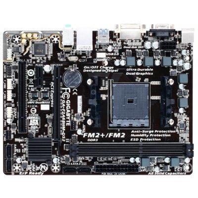 Материнская плата ПК Gigabyte GA-F2A68HM-DS2 (rev. 1.1) (GA-F2A68HM-DS2V1.1)Материнские платы ПК Gigabyte<br>материнская плата форм-фактора microATX<br>сокет FM2+<br>чипсет AMD A68H<br>2 слота DDR3 DIMM, 1333-2400 МГц<br>разъемы SATA: 6 Гбит/с - 4<br>