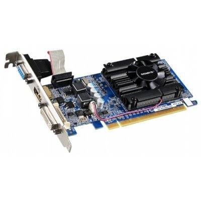 Видеокарта ПК Gigabyte GeForce 210 520Mhz PCI-E 2.0 1024Mb 1200Mhz 64 bit DVI HDMI HDCP rev. 5.0/ 6.0 (N210D3-1GIV6.0)
