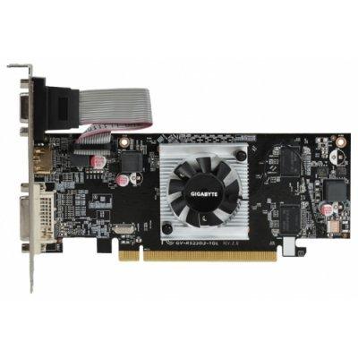 Видеокарта ПК Gigabyte Radeon R5 230 625Mhz PCI-E 2.1 1024Mb 1066Mhz 64 bit DVI HDMI HDCP rev 2.0 (GV-R523D3-1GLV2.0)Видеокарты ПК Gigabyte<br>видеокарта AMD Radeon R5 230 1024 Мб видеопамяти GDDR3 частота ядра/памяти: 625/1066 МГц разъемы DVI, HDMI, VGA поддержка DirectX 11, OpenGL 4.1 работа с 2 мониторами<br>