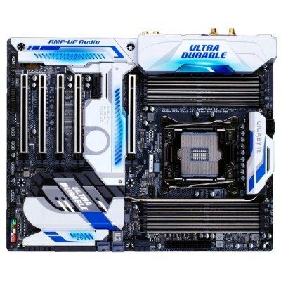 Материнская плата ПК Gigabyte GA-X99-Designare EX (rev. 1.0) (GA-X99-DESIGNAREEX)Материнские платы ПК Gigabyte<br>материнская плата форм-фактора ATX сокет LGA2011-3 чипсет Intel X99 8 слотов DDR4 DIMM, 2133-3600 МГц поддержка SLI/CrossFireX разъемы SATA: 6 Гбит/с - 10 Wi-Fi 802.11ac, Bluetooth<br>