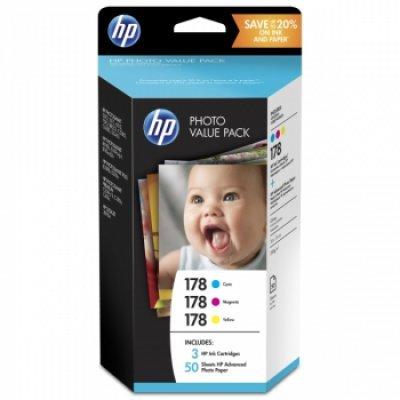 Картридж для струйных аппаратов HP 178 Photo Value Pack new T9D89HE (T9D89HE)Картриджи для струйных аппаратов HP<br>Экономичный комплект HP 178 для фотопечати<br>