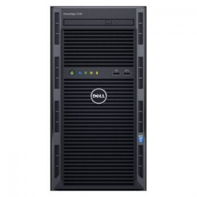 Сервер Dell PowerEdge T130 (210-AFFS/001) (210-AFFS/001)Серверы Dell<br>E3-1220v5 (3.0 GHz, 4C), 8GB (1x8GB) UDIMM, (1)*1TB SATA 7.2K (up to 4x3.5 Cabled), PERC H330, DVD+/-RW, Broadcom 5720 DP 1GB LOM, iDRAC8 Express, PSU 290W, 3Y Basic NBD<br>
