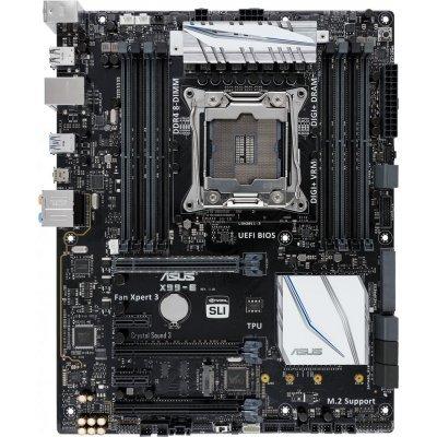 Материнская плата ПК ASUS X99-E (X99-E)Материнские платы ПК ASUS<br>материнская плата форм-фактора ATX сокет LGA2011-3 чипсет Intel X99 8 слотов DDR4 DIMM, 2133-3200 МГц поддержка SLI/CrossFireX разъемы SATA: 6 Гбит/с - 8<br>