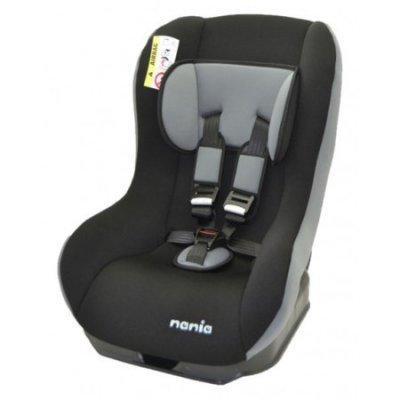 Детское автокресло Nania Basic (rock grey) от 0 до 18 кг (0+/1) черный/серый (137950)