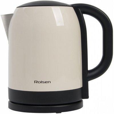 Электрический чайник Rolsen RK-2718M (RK-2718M)Электрические чайники Rolsen<br>Чайник электрический Rolsen RK-2718M 1.7л. 1850Вт бежевый (корпус: нержавеющая сталь)<br>