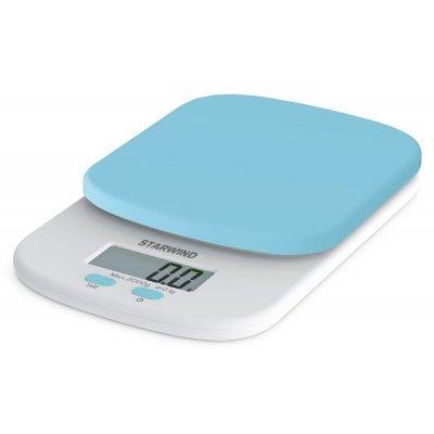 Весы кухонные StarWind SSK2156 голубой (SSK2156)