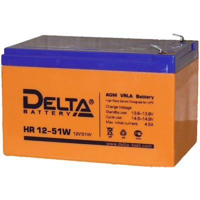 Аккумуляторная батарея для ИБП Delta HR 12-51W (HR 12-51 W) аккумуляторная батарея для ибп delta hr 12 28w hr 12 28 w