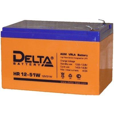 Аккумуляторная батарея для ИБП Delta HR 12-51W (HR 12-51 W)Аккумуляторные батареи для ИБП Delta<br>Аккумулятор Delta HR 12-51W 12V12Ah<br>