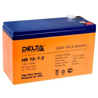 Аккумуляторная батарея для ИБП Delta HR 12-7.2 (HR 12-7.2) аккумуляторная батарея для ибп delta hr 12 28w hr 12 28 w
