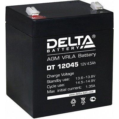 Аккумуляторная батарея для ИБП Delta DT 12045 (DT 12045)Аккумуляторные батареи для ИБП Delta<br>Аккумулятор Delta DT 12045 12V4.5Ah<br>