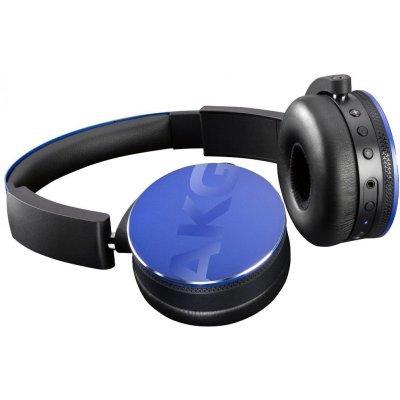 Наушники AKG Y50BT синий (Y50BTBLU)Bluetooth-гарнитуры AKG<br>Наушники беспроводные Y50BT, 32 Ом, 120 dB, синий<br>