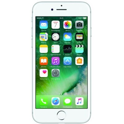 Смартфон Apple iPhone 7 128Gb серебристый (MN932RU/A)Смартфоны Apple<br>Смартфон Apple iPhone 7 128Gb Silver Серебристый MN932RU/A<br>