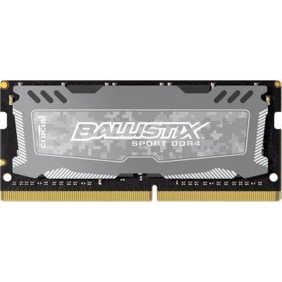 Модуль оперативной памяти ПК Crucial BLS4G4S240FSD (BLS4G4S240FSD)Модули оперативной памяти ПК Crucial<br>Память SO-DIMM DDR4 4Gb (pc-19200) 2400MHz Crucial Ballistix Sport LT Grey CL16 SR x8 BLS4G4S240FSD<br>