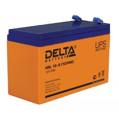 Аккумуляторная батарея для ИБП Delta HRL 12-9 (HRL 12-9 (1234W))Аккумуляторные батареи для ИБП Delta<br>Аккумулятор Delta HRL 12-9 12V9Ah<br>