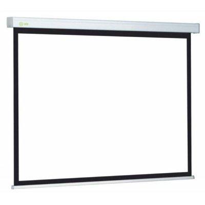 Проекционный экран Cactus CS-PSW-150x150 (CS-PSW-150X150)Проекционные экраны Cactus<br>Экран Cactus 150x150см Wallscreen CS-PSW-150x150 1:1 настенно-потолочный рулонный белый<br>