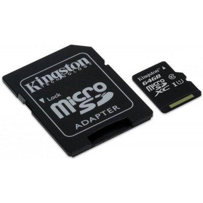 Карта памяти Kingston SDCIT/64GB (SDCIT/64GB)Карты памяти Kingston<br>Kingston 64GB microSDHC UHS-I Class 10 Industrial Temp Card + SD Adapter<br>