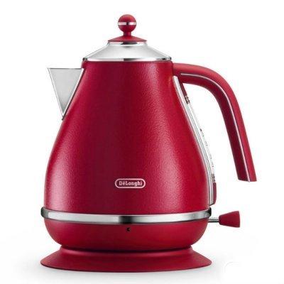 Электрический чайник Delonghi KBOE 2001 красный (KBOE2001.R)Электрические чайники Delonghi<br>Чайник электрический Delonghi KBOE2001.R (1.7L)<br>