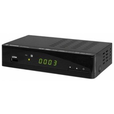 ТВ-тюнер внешний Telefunken TF-DVBT202 черный (TF-DVBT202(ЧЕРНЫЙ))ТВ-тюнеры внешние Telefunken<br>Ресивер DVB-T2 Telefunken TF-DVBT202 черный<br>