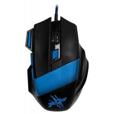 Мышь OKLICK 775G черный/синий (X3) мышь oklick 105s черный hm 01