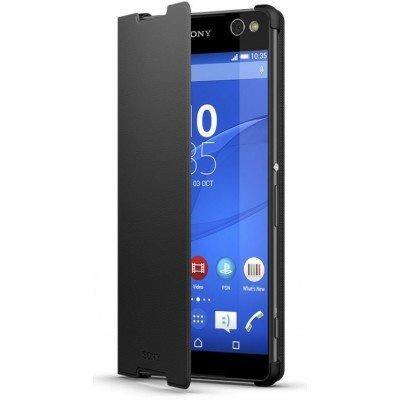 Чехол для смартфона Sony для Xperia C5 Ultra (SCR40 Black) аксессуар чехол sony xperia c5 ultra activ black mat 52447