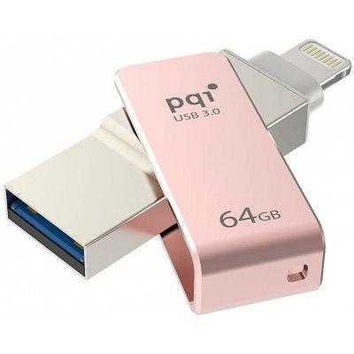 USB накопитель PQI iConnect mini 64GB розовое золото (6I04-064GR3001)