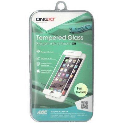 Пленка защитная для смартфонов Onext для Apple iPhone 6 с белой рамкой (Защитное стекло) (40934)Пленки защитные для смартфонов Onext<br>Защитное стекло для Apple iPhone 6 с белой рамкой, Onext<br>