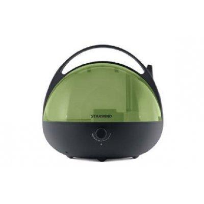 Увлажнитель и очиститель воздуха StarWind SHC3415 черный/зеленый (SHC3415)Увлажнитель и очиститель воздуха StarWind <br>Увлажнитель воздуха Starwind SHC3415 25Вт (ультразвуковой) черный/зеленый<br>