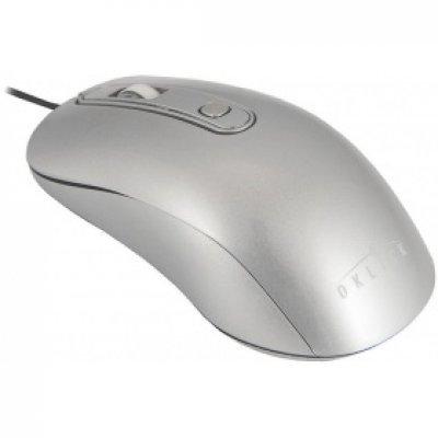 Мышь OKLICK 155M серебристый (M-718)Мыши OKLICK<br>Мышь Oklick 155M серебристый оптическая (1600dpi) USB (3but)<br>