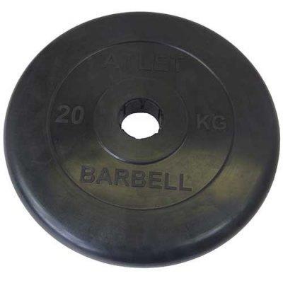 Блин для гантели и штанги Barbell MB ATLET d-51 20кг (ATLET d-51 20кг) mb barbell atlet 20кг