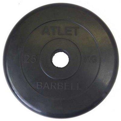 Блин для гантели и штанги Barbell MB ATLET d-51 25кг (MB ATLET d-51 25кг) mb barbell atlet 25кг