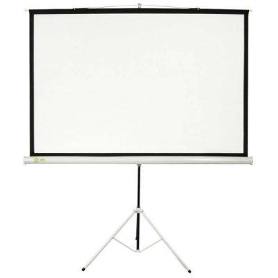 Проекционный экран Cactus CS-PST-150x150 (CS-PST-150X150)Проекционные экраны Cactus<br>Экран Cactus 150x150см Triscreen CS-PST-150x150 1:1 напольный рулонный белый<br>