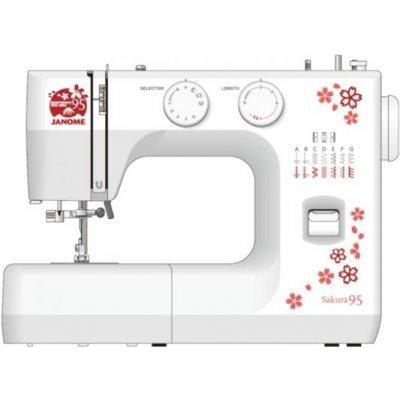 Швейная машина Janome Sakura 95 белый/цветы (SAKURA 95) швейная машина janome dresscode белый