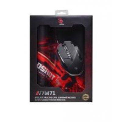 Мышь A4Tech Bloody V7M71 черный (V7M+B-071) ауробин мазь 20г
