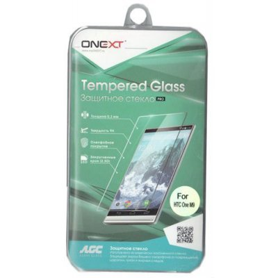 Пленка защитная для смартфонов Onext для HTC One M9 (Защитное стекло) (40915) защитная пленка partner для htc one max