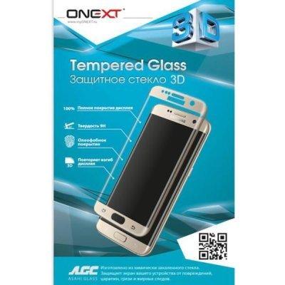 Пленка защитная для смартфонов Onext для Samsung Galaxy S7 Edge 3D с рамкой (Защитное стекло) (41094)