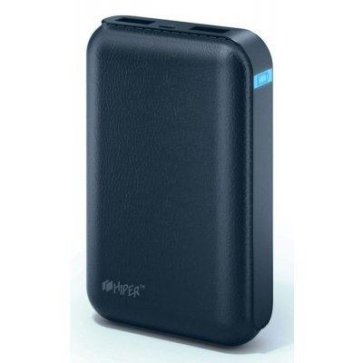 Внешний аккумулятор для портативных устройств HIPER SP7500 INDIGO (SP7500INDIGO)Внешние аккумуляторы для портативных устройств HIPER<br>аккумулятор емкостью 7500 мАч, максимальный ток 2.1 А, два разъема USB, переходник на micro USB, вес 168 г<br>