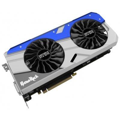 Видеокарта ПК Palit GeForce GTX 1070 1670Mhz PCI-E 3.0 8192Mb 8500Mhz 256 bit DVI HDMI HDCP (NE51070H15P2-1041G)Видеокарты ПК Palit<br>видеокарта NVIDIA GeForce GTX 1070 8192 Мб видеопамяти GDDR5 частота ядра/памяти: 1670/8500 МГц поддержка режима SLI/CrossFire разъемы DVI, HDMI, DisplayPort x3 поддержка DirectX 12, OpenGL 4.5 работа с 4 мониторами<br>