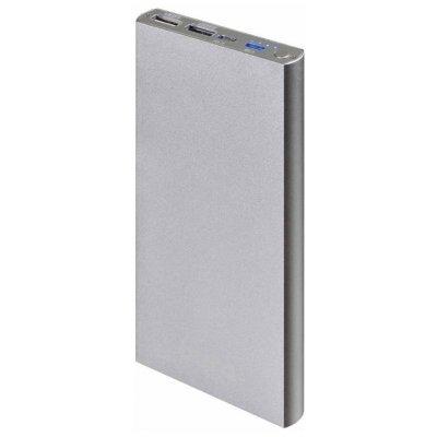 Внешний аккумулятор для портативных устройств Buro RA-12000-AL серебристый (RA-12000-AL)Внешние аккумуляторы для портативных устройств Buro<br>Мобильный аккумулятор Buro RA-12000-AL Li-Pol 12000mAh 2.1A+1A серебристый 2xUSB<br>