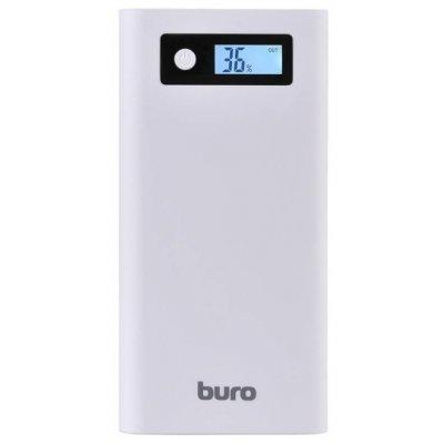 Внешний аккумулятор для портативных устройств Buro RA-16000-3U-LCD белый (RA-16000-3U-LCD -WT)Внешние аккумуляторы для портативных устройств Buro<br>аккумулятор емкостью 16000 мАч<br>максимальный ток 2.1 А<br>три разъема USB<br>вес 413 г<br>фонарик<br>