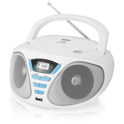 Аудиомагнитола BBK BX180U белый/голубой (BX180U белый/голубой)