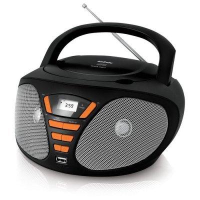 Аудиомагнитола BBK BX180U черный/оранжевый (BBK BX180U черный/оранжевый) аудиомагнитола bbk bs01 черный и белый