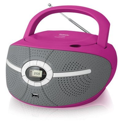 цены  Аудиомагнитола BBK BX195U розовый (BBK BX195U розовый)