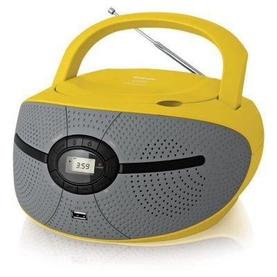 цена на Аудиомагнитола BBK BX195U желтый (BX195U желтый)