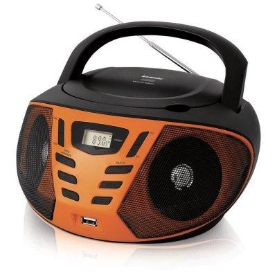 Аудиомагнитола BBK BX193U черный/оранжевый (BBK BX193U черный/оранжевый) аудиомагнитола bbk bx 108u голубой bx108u