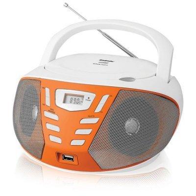 Аудиомагнитола BBK BX193U белый/оранжевый (BBK BX193U белый/оранжевый) аудиомагнитола bbk bs01 черный и белый