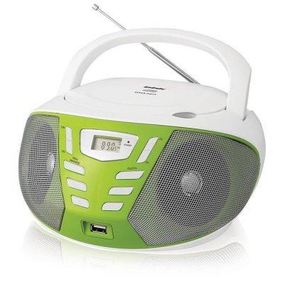 Аудиомагнитола BBK BX193U белый/зеленый (BBK BX193U белый/зеленый)Аудиомагнитолы BBK<br>Аудиомагнитола BBK BX193U белый/зеленый<br>
