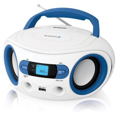 цена на Аудиомагнитола BBK BS15BT белый/голубой (BS15BT белый/голубой)