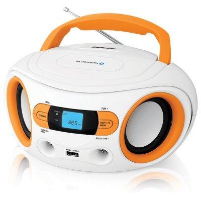 Аудиомагнитола BBK BS15BT белый/оранжевый (BS15BT белый/оранжевый)Аудиомагнитолы BBK<br>Аудиомагнитола BBK BS15BT белый/оранжевый<br>