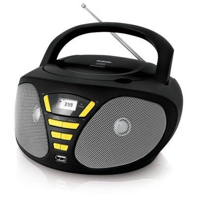 цена на Аудиомагнитола BBK BX180U черный/желтый (BX180U черный/желтый)